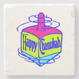 Chanukah Dreidel Stone Beverage Coaster