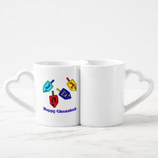 Chanukah Dreidels Couples Mug