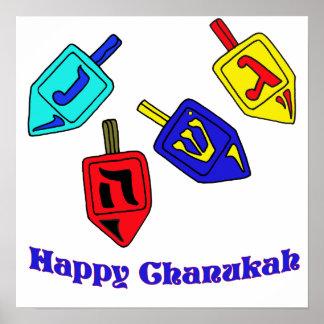 Chanukah Dreidels Poster