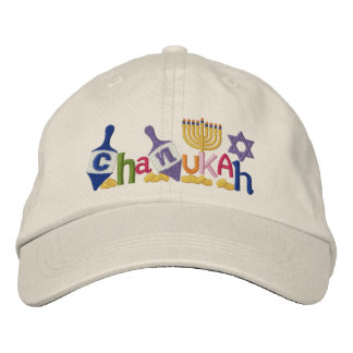 Chanukah Letters Embroidered Hat