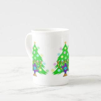 Chanukah Menorah Christmas Tree Bone China Mug