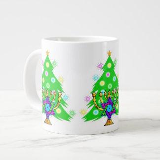 Chanukah Menorah Christmas Tree 20 Oz Large Ceramic Coffee Mug