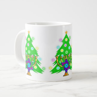 Chanukah Menorah Christmas Tree Jumbo Mug