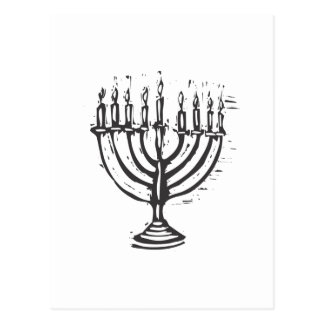 Chanukah Menorah Postcards