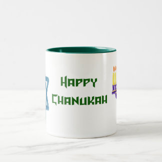 Chanukah Two-Tone Coffee Mug