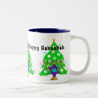 Chanukkah and Christmas Two-Tone Coffee Mug