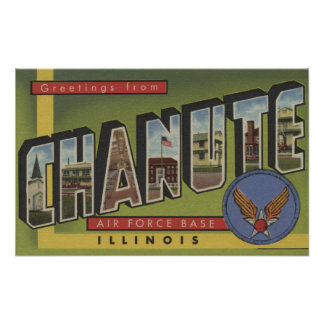 Chanute Air Force Base - Large Letter Scenes Posters