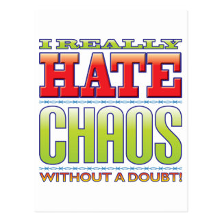 Chaos Hate Postcard