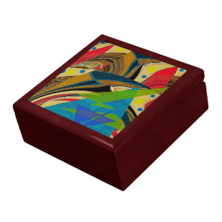 """""""Chaos in Color"""" Large Tiled Keepsake Box"""