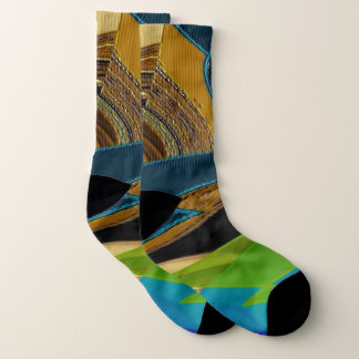 """""""Chaos in Colour"""" All-Over-Print Socks 1"""