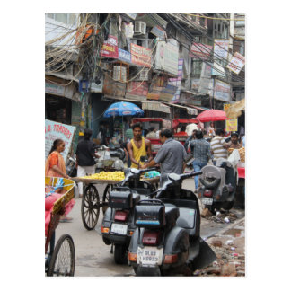 Chaos in Delhi Postcard