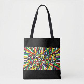 Chaos, in Primaries Tote Bag