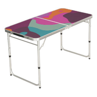 Chaos in retro colors beer pong table
