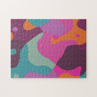 Chaos in retro colors jigsaw puzzle