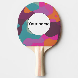 Chaos in retro colors ping pong paddle