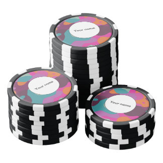 Chaos in retro colors poker chips