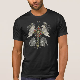 Chaos is order the balance with skully back T-Shirt