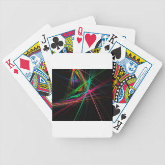 Chaos of rainbow bicycle playing cards