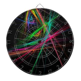 Chaos of rainbow dartboard