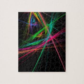 Chaos of rainbow jigsaw puzzle