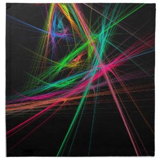 Chaos of rainbow napkin