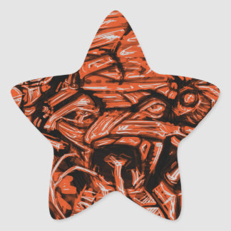 Chaos Sketch Star Sticker