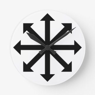 Chaos Star Round Clock