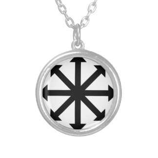 Chaos Star Silver Plated Necklace