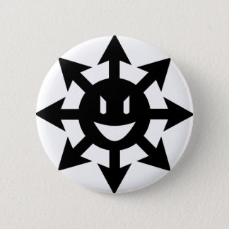 Chaos star smiling 6 cm round badge