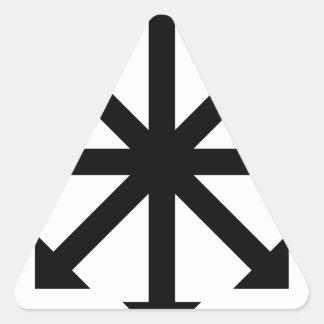 Chaos Star Triangle Sticker