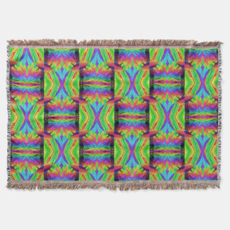 Chaos Storm 3 Throw Blanket