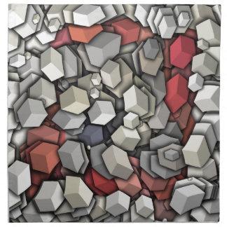 Chaotic 3D Cubes Napkin