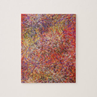 Chaotic abstract multicolored pattern puzzle