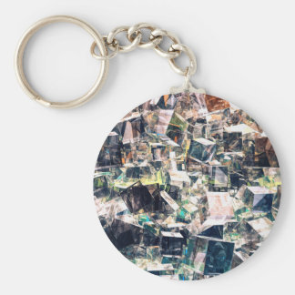 Chaotic Collection of Cubes Key Ring
