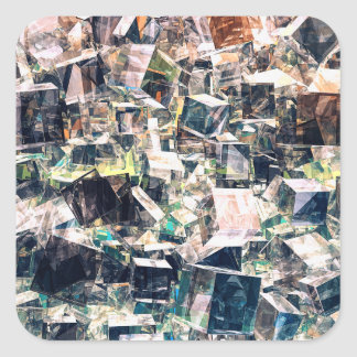 Chaotic Collection of Cubes Square Sticker