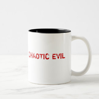 CHAOTIC EVIL, How do you feel today? Two-Tone Coffee Mug