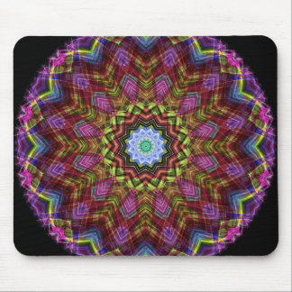 Chaotic Star Kaleidoscope Mouse Pad
