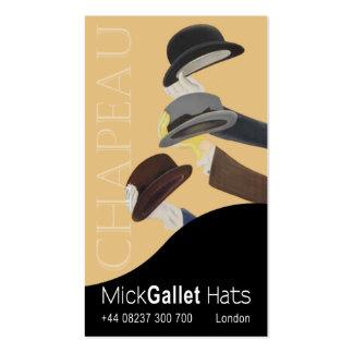 """""""Chapeau"""" Milliner, Hat Designer, Haberdasher Business Cards"""