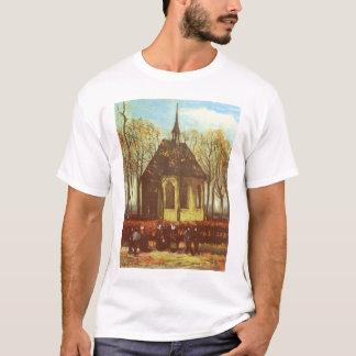 Chapel at Nuenen, Churchgoers by Vincent van Gogh T-Shirt