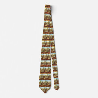 Chapel at Nuenen, Churchgoers by Vincent van Gogh Tie