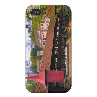 Chapel Bridge, Lucerne iPhone 4 Covers