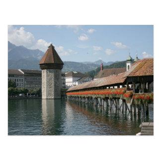 Chapel Bridge, Lucerne, Switzerland Postcard