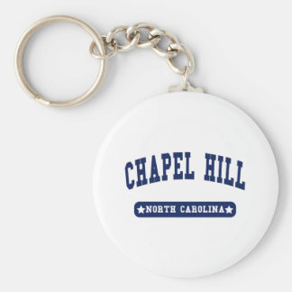 Chapel Hill North Carolina College Style tee shirt Basic Round Button Key Ring