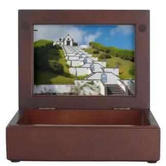 Chapel in Azores islands Keepsake Box