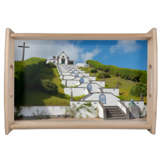 Chapel in Azores islands Serving Tray