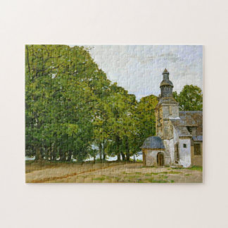 Chapel Notre-Dame-de-Grâce Honfleur Monet Fine Art Jigsaw Puzzle