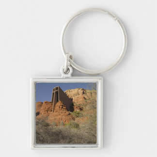 Chapel of the Holy Cross Silver-Colored Square Key Ring