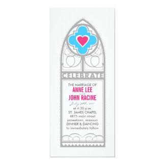 Chapel Stained Glass Tea Length Wedding Invitation