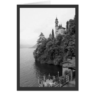 Chapel View BW Greeting Card