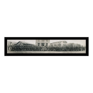 Chaplain Army School Photo 1918 Poster